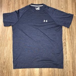 Under Armour Heat Gear Loose Fit Navy T-shirt, Med